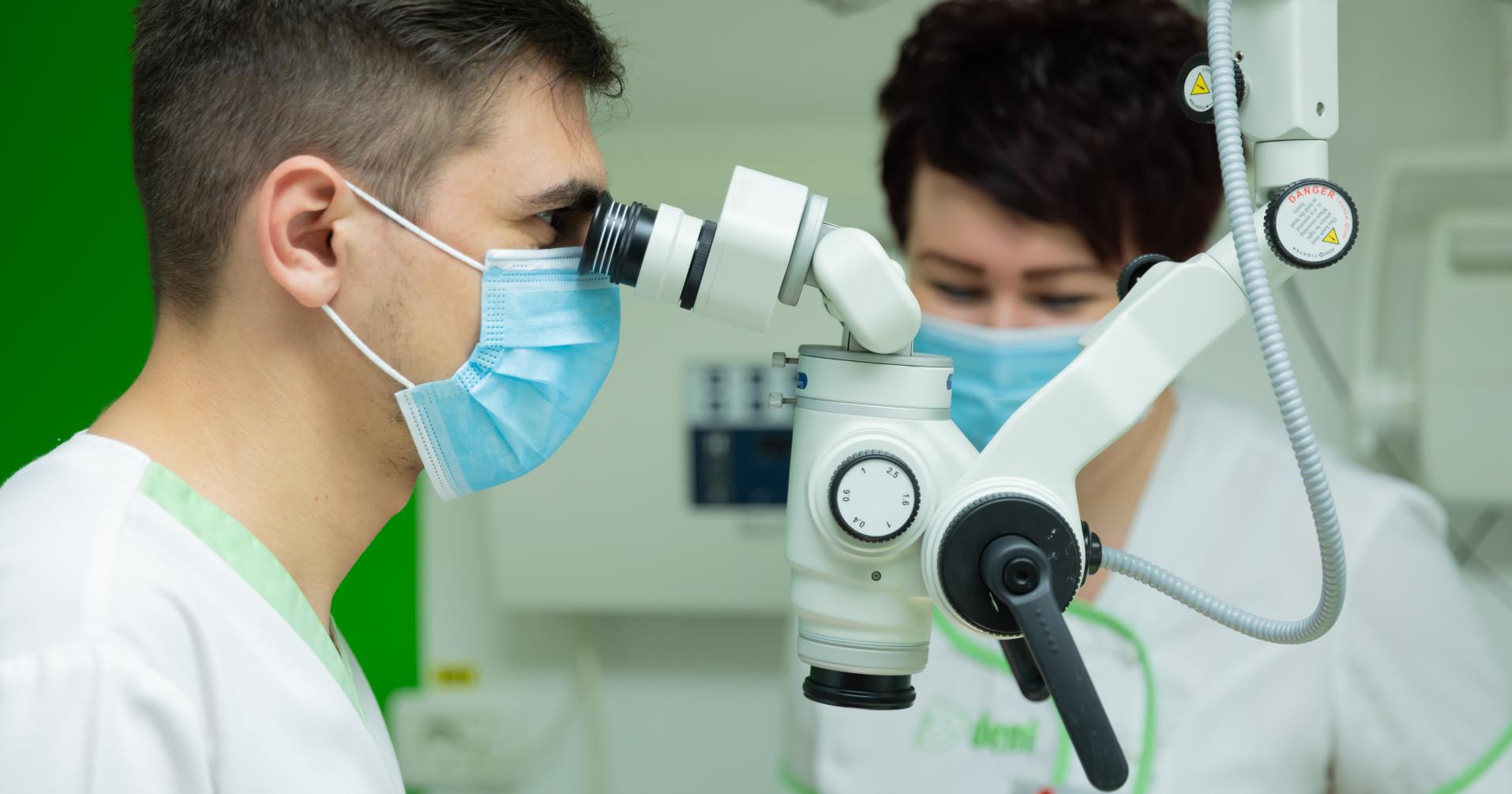 ClinIca stomatologica ESdent Brasov endodontie la microscop